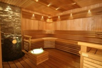 Eclairage du Sauna